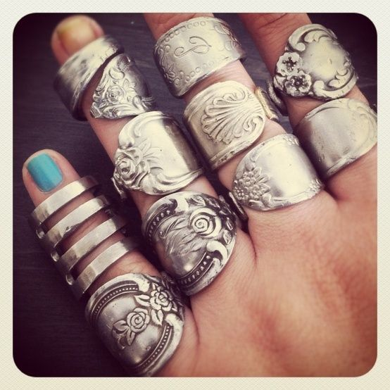 SPOON & FORK RINGS.  I love spoon rings