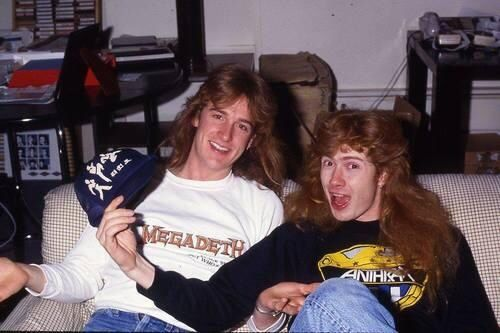 Dave Mustaine and David Ellefson of Megadeth
