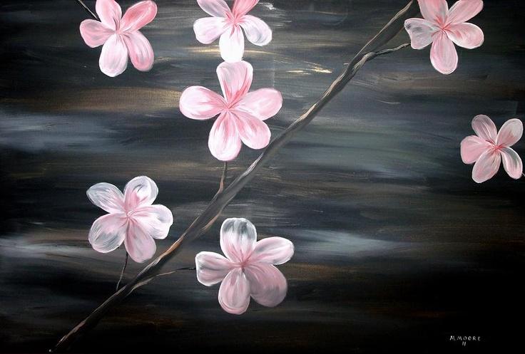 Cherry Blossom  Painting  - Cherry Blossom  Fine Art Print