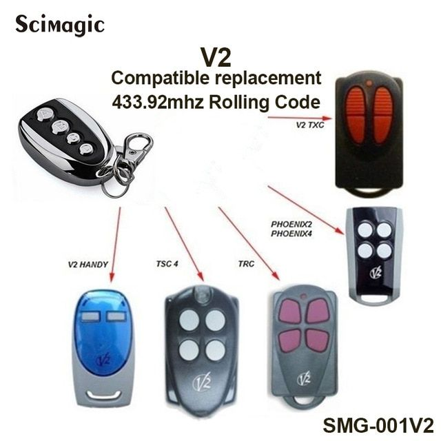 V2 Garage Door Remote Control V2 Txc V2 Handy Tsc4 Trc Phoenix2