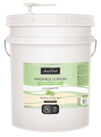 Bon Vital Therapeutic Touch Massage Oil Made with Olive Oil to Repair Dry Skin  Soothe Sore Muscles 5 Gallon Pail * Learn more by visiting the image link.