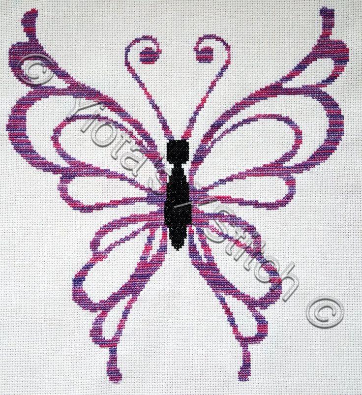 Butterfly free cross stitch pattern