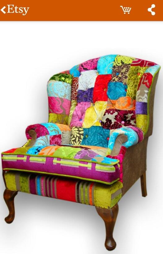 patchwork chair wonderful