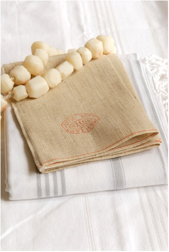 Scrub towel with soap chain