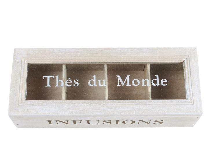 "Skrzynka na herbatę ""Thes Du Monde"" lovelypassion.pl #shabbychic #vintage #country #shop #decor #home #dom #dekoracja #inspiration #beautiful"