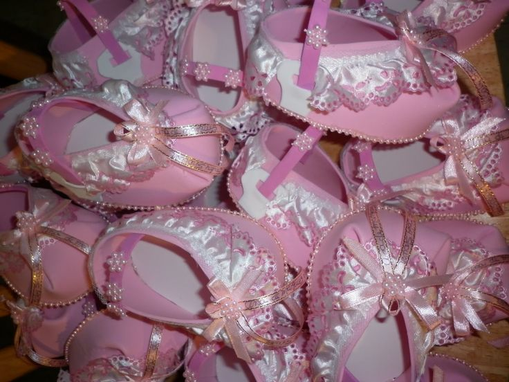 Zapatitos para baby shower de nina decoraciones neme - Decoracion de baby shower nina ...