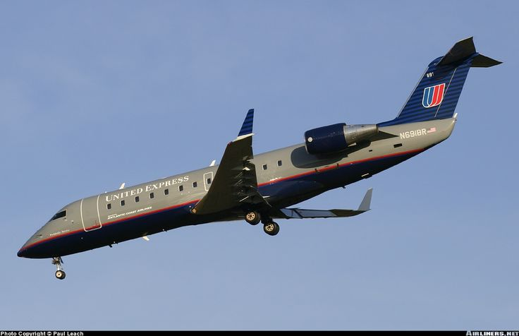 Canadair CL600-2B19 Regional Jet CRJ-200ER, Atlantic Coast Airlines (operating for United Express), N691BR, cn 7740, first flight 12/2002, Atlantic Coast delivered 17.1.2003. Foto: Windsor Locks, United States, 20.4.2004.