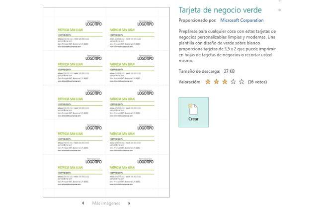 Diseñar tarjetas de visita en Publisher