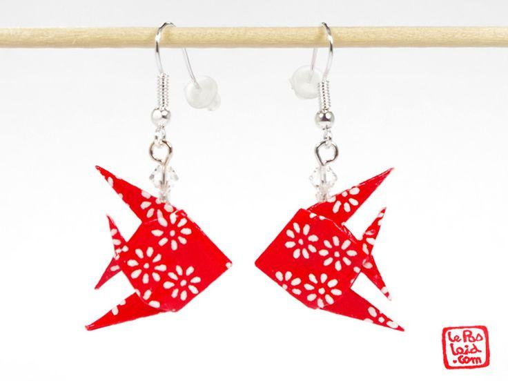 Boucles d'oreilles #poissons en #origami