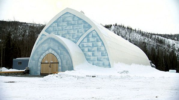 Aurora Ice Hotel the only ice hotel in america. 60 miles from Fairbanks Alaska