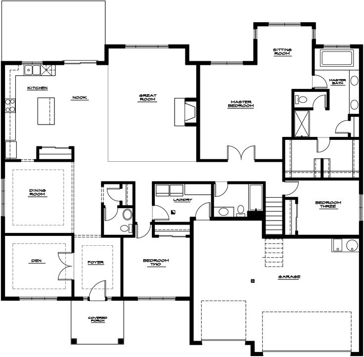 17 best images about house plans on pinterest monster for 4 bedroom rambler floor plans