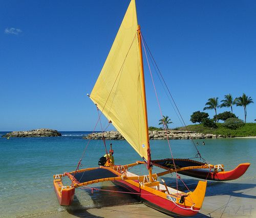 Outrigger Sailing Canoe - Hawaiian Ocean Adventures | kayak | Pinterest