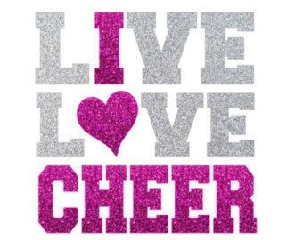 Glitter Cheer LOVE Iron On,  LOVE Cheerleading Iron On Transfer, Glitter Megaphone, DIY Cheer Shirt, Cheer Heat Transfer by IHeartHoundstooth