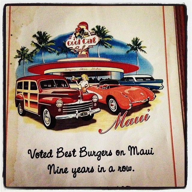 Cool Cat Cafe -  Maui Revealed ONO; Maui Magazine Aipono-Best Burger