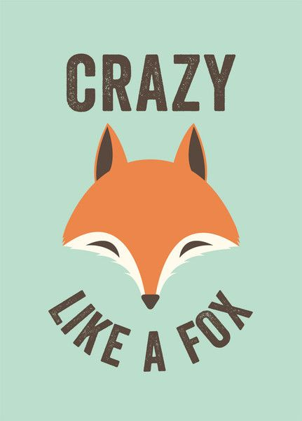 """""""The Crazy Fox"""" by Lucky 5. £38.00."""