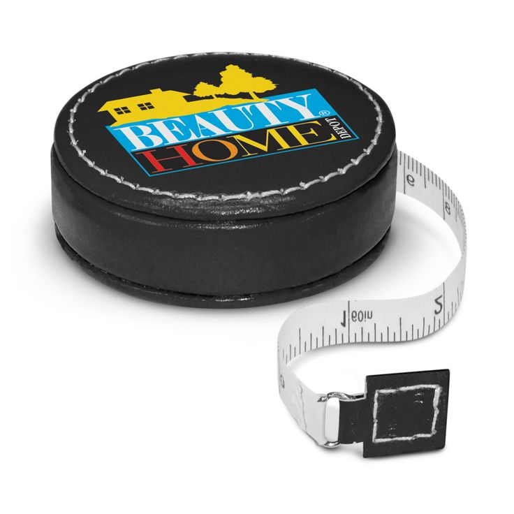 Elegant leather look tape measure is ideal for use around the home or office. Features a durable 1 metre non stretch locking tape which is calibrated in centimetres.