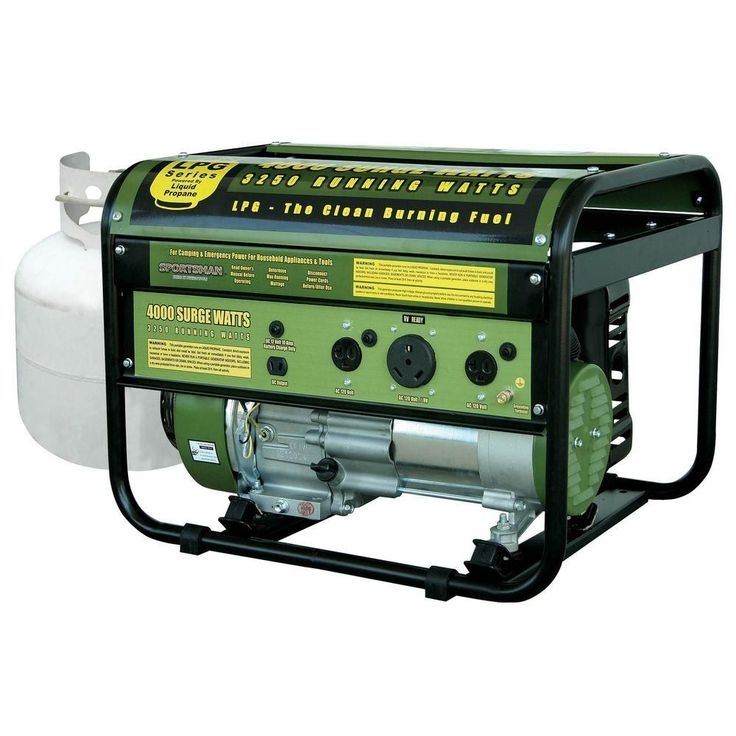 $349 Sportsman 4,000-Watt Clean Burning LPG Portable Propane Generator with RV Outlet-GEN4000LP - The Home Depot