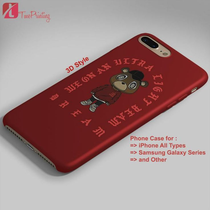 Ultra Light Beam Yeezy Bear - Personalized iPhone 7 Case, iPhone 6/6S Plus, 5 5S SE, 7S Plus, Samsung Galaxy S5 S6 S7 S8 Case, and Other