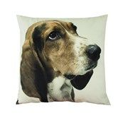 Bassett Hound Velvet Look Cushion  Website Coming soon...