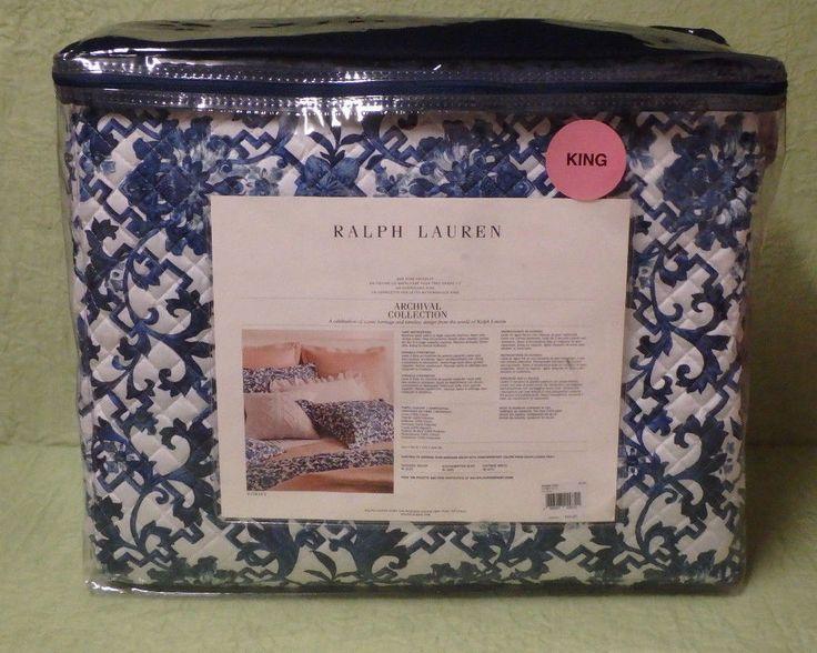 RALPH LAUREN DORSEY Floral Blue White King Quilted Coverlet size 110 x 96 inch | Home & Garden, Bedding, Quilts, Bedspreads & Coverlets | eBay!