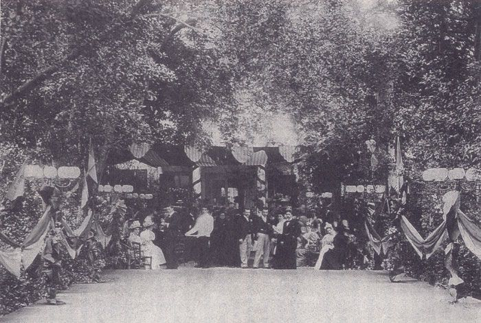 A ball held in the garden of the Matthey house early 20th century where members of the Austrian Habsburg ruling family members attended.