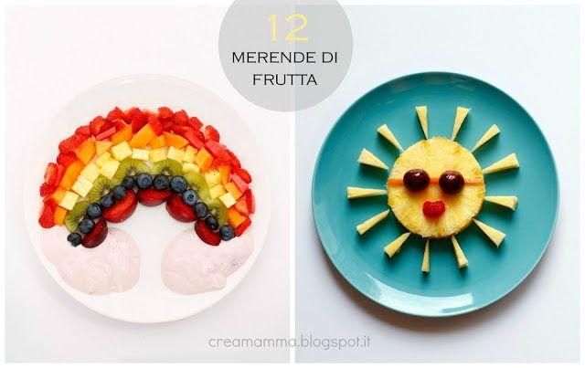 arcobaleno di frutta e sole con ananas