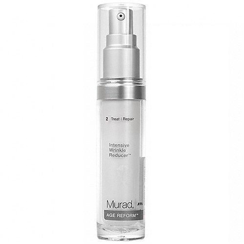 Murad Intensive Wrinkle Reducer - 1 fl oz. by Murad. $80.00. Restores a smooth texture, youthful suppleness and healthy radiance. Promotes cell turnover. Diminishes imperfections and plumps the skin. For aging and mature skin types. Increases skin firmness and density and strengthens the skin's natural barrier. Murad Intensive Wrinkle Reducer is designed to treat aging and mature skin types, restoring a smooth texture, youthful suppleness and healthy radiance. GlycoNut...
