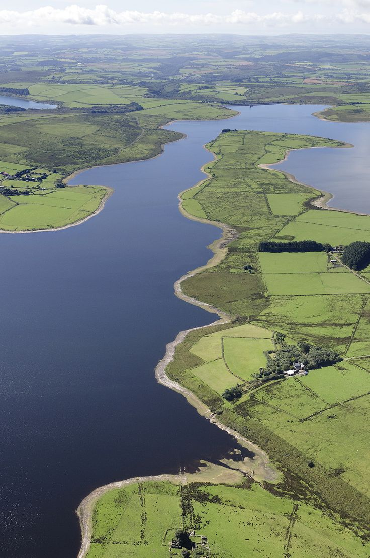 Colliford Lake on Bodmin Moor in Cornwall - UK aerial image by John Fielding #colliford #lake #reservoir #cornwall #bodmin #moor #aerial