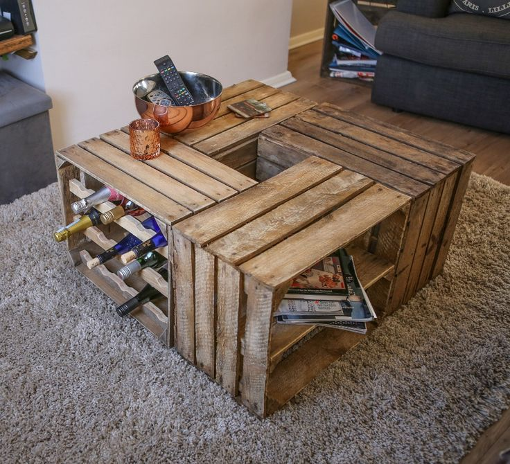 1000+ Ideas About Crate Coffee Tables On Pinterest