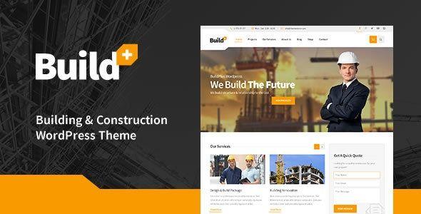 Buildplus Construction Wordpress Theme Stylelib Biznes Stroitelstvo Arhitektura