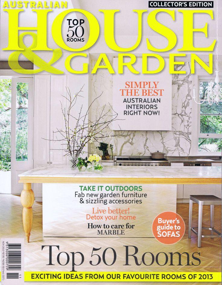 House & Garden November 2013 Cover   Brooke Aitken Design
