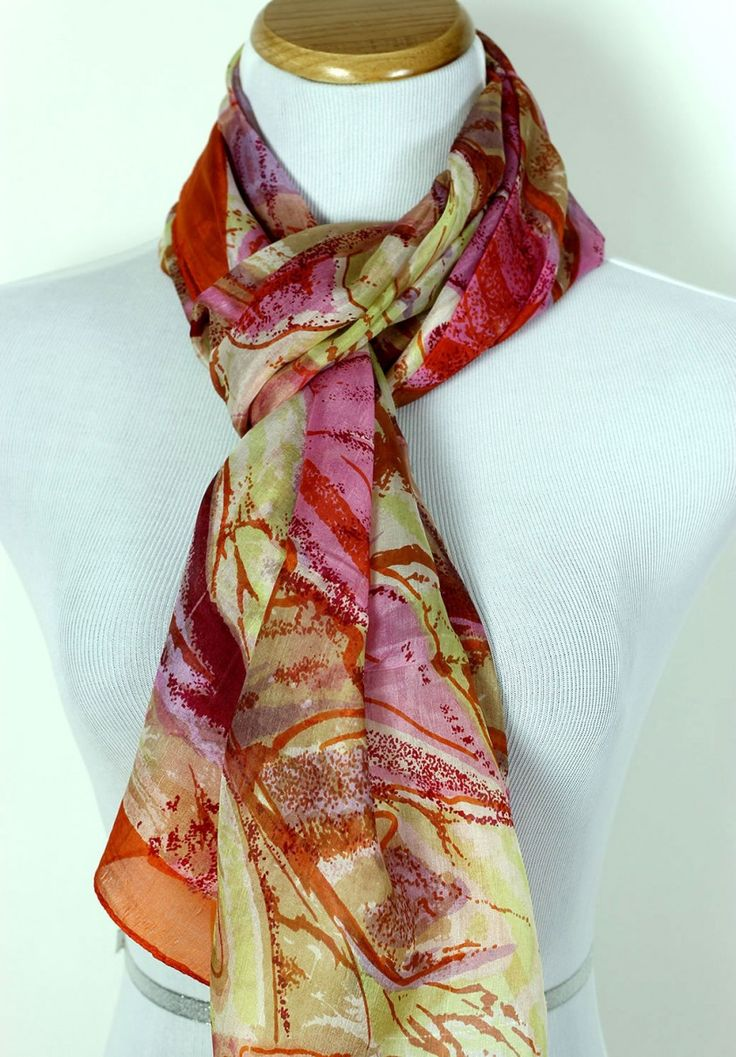 Cashmere Silk Scarf - Burnt Copper by VIDA VIDA VD8P21xBx