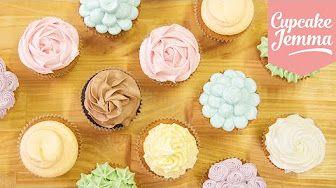 Buttercreme Rosen Hortensien Cupcakes Muttertag Special |Danis Cupcakes - YouTube