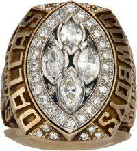 1993 Dallas Cowboys Super Bowl XXVIII Championship Ring Presented to CB Dave Thomas