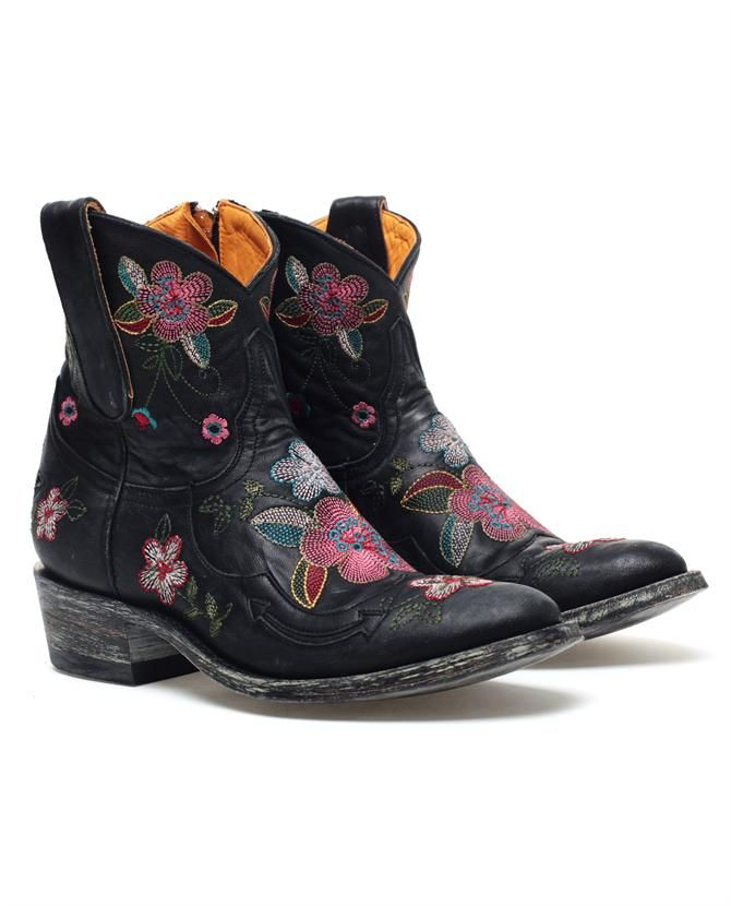 'Bonnie' Embroidered Leather Cowboy Boots by MEXICANA at Browns Fashion for £380.00