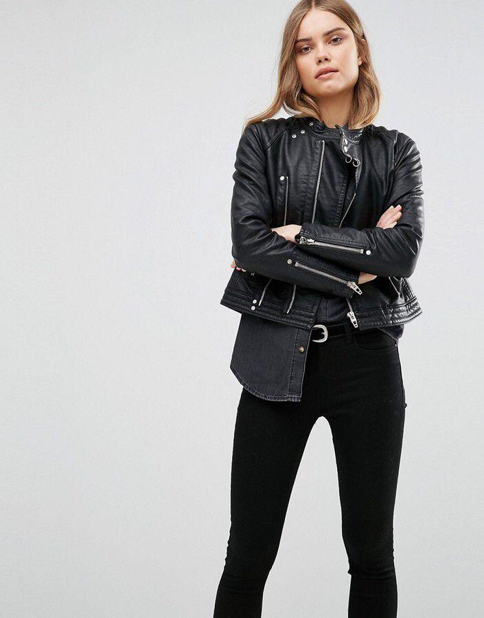 BLANK NYC Blank NYC Biker Leather Look Jacket