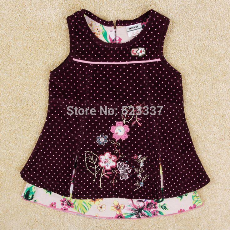 Девушки зима платье детей 100% хлопок в горошек платье для девочки дети вышивка цветы платье принцессы для девочек H5106