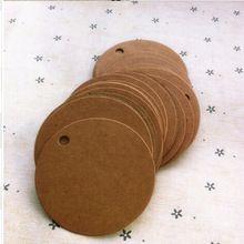Tamaño: 5 cm, venta al por mayor bolsas de papel kraft, colgar etiquetas de regalo, pendiente tarjetas(China (Mainland))