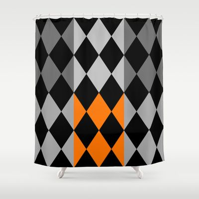 Pattern orange Shower Curtain by LoRo  Art & Pictures - $68.00