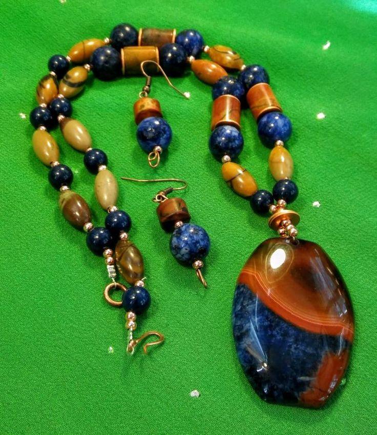 Earth & Sky - Jewelry creation by Suzi Fowler