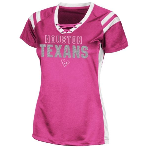 a192068ad ... Houston Texans Ladies Draft Me VI Fashion T-Shirt Pink Nike ...
