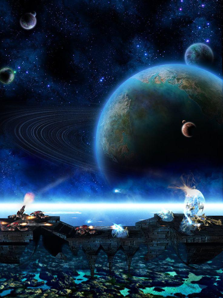 Space Bridge Battle by Traelium on DeviantArt