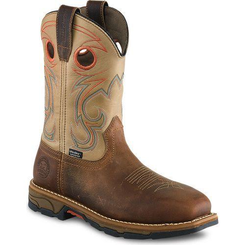 Irish Setter Women's Marshall 9 in Steel Toe Work Boots (Beige/Medium Brown, Size 10) - Women's Work Boots at Academy Sports