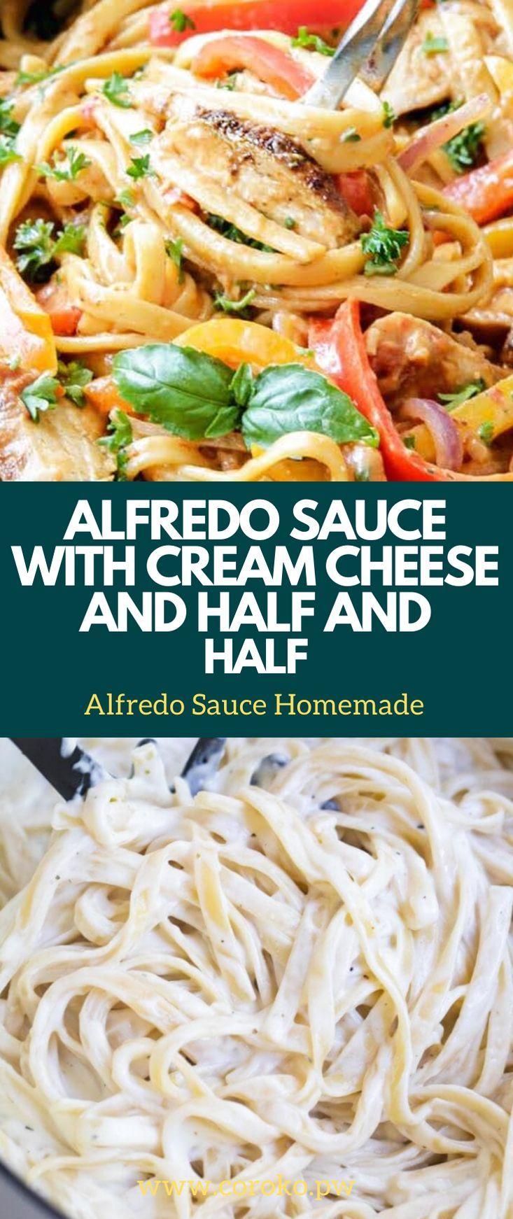 Alfredo Sauce With Cream Cheese And Half And Half Alfredo Sauce Recipe Homemade Cooking Recipes Alfredo Recipe With Half And Half