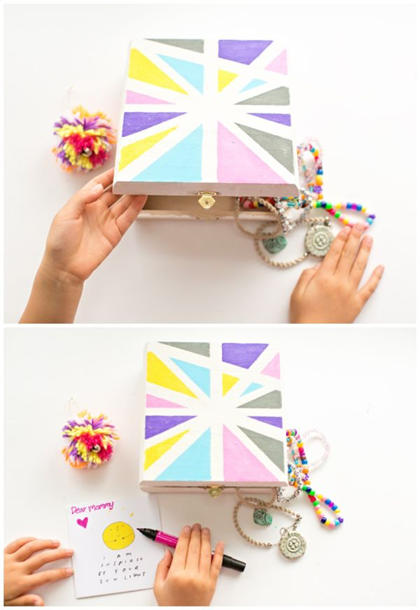 Kid Made Mother S Day Treasure Box Gift Ideas Diy Gifts For Kids Mothers Crafts Holiday