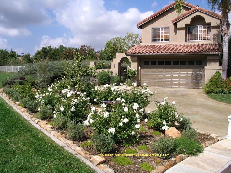 Mobile home landscaping iceberg rose and lavender front for Garden design ideas lavender