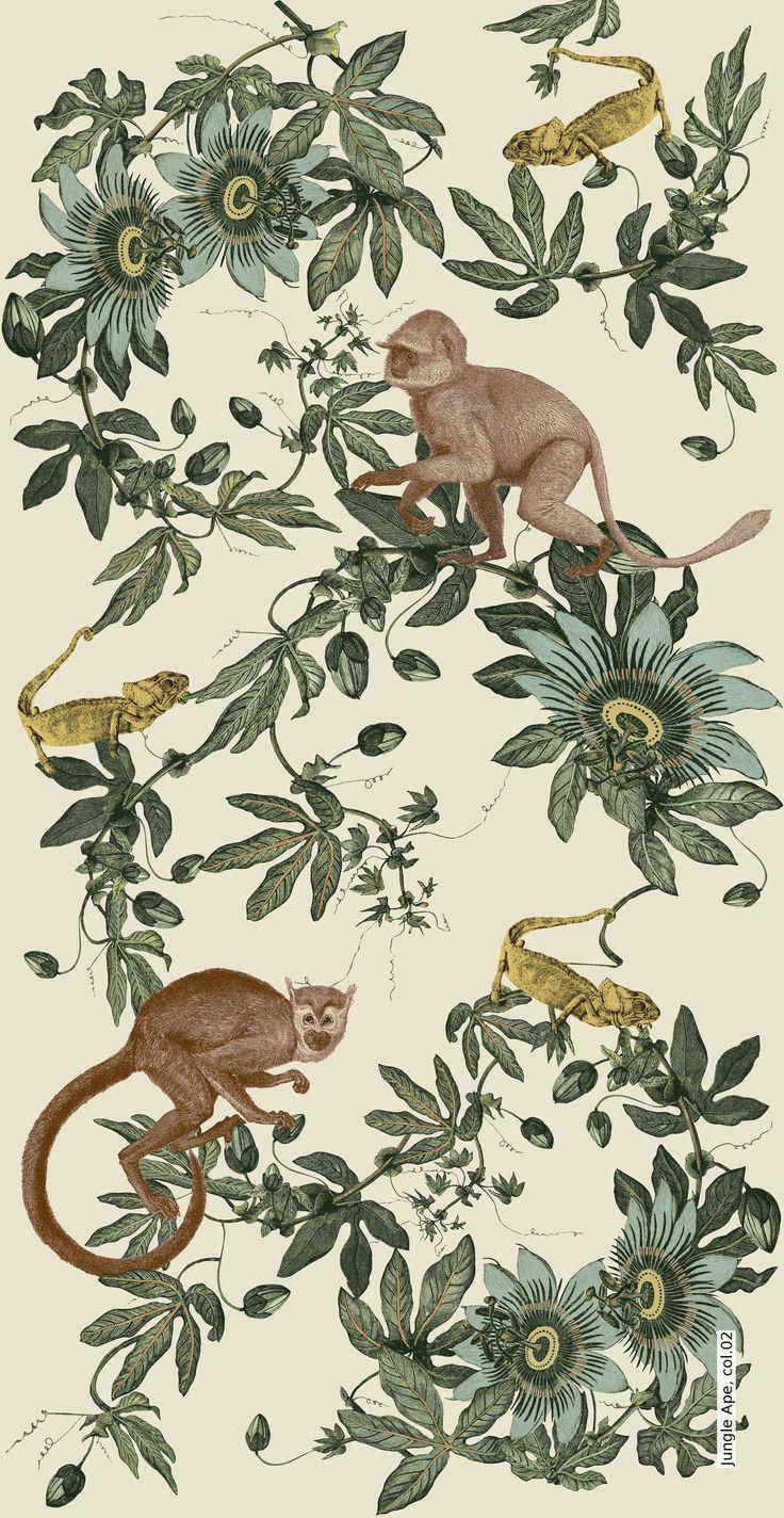 Tapete: Jungle Ape, col.02 - Die TapetenAgentur