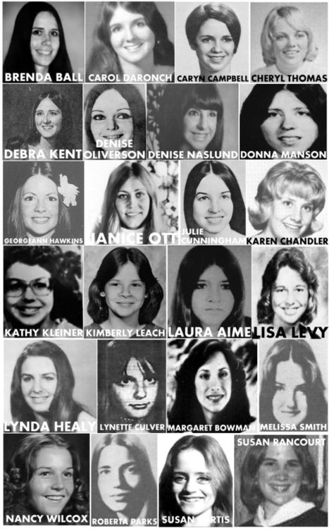 Sometimes I focus too much on the bad guys - I need to remember the faces of the lost as well - Here are the victims of the serial killer Ted Bundy