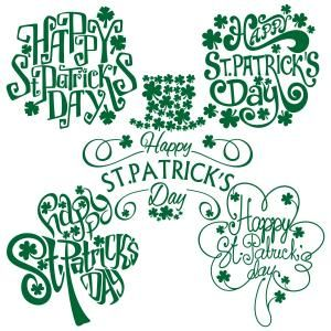 Happy St. Patrick's Day Pack Cuttable Design Cut File. Vector, Clipart, Digital Scrapbooking Download, Available in JPEG, PDF, EPS, DXF and SVG. Works with Cricut, Design Space, Sure Cuts A Lot, Make the Cut!, Inkscape, CorelDraw, Adobe Illustrator, Silhouette Cameo, Brother ScanNCut and other compatible software.