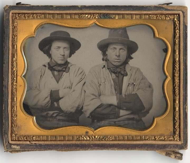 Gold rush workers